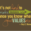 Your values reflect your level of success!