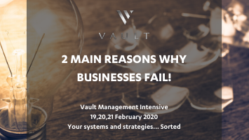 The 2 main reasons why businesses fail!